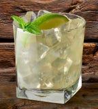Tonique de chaux, de vrille ou de genièvre de vodka images stock