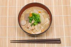 Tonjiru Fotografia Stock