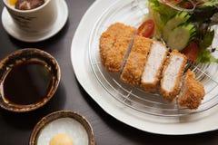 Tonkatsu, comida japonesa se satisfaga por todo el mundo Foto de archivo