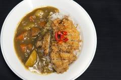 Tonkatsu Curry Rice Stock Photo