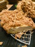Tonkatsu deep fried Pork. Japanese cuisine, chopped Katsu deep fried Pork with sliced Royalty Free Stock Images