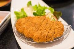 Tonkatsu frito del cerdo Fotos de archivo