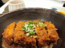 tonkatsu or Japan deep fried crispy pork stock photo