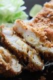 Tonkatsu (porc cuit à la friteuse) Photographie stock libre de droits