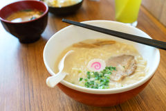 Tonkatsu ramen Japanese Noodles Food Royalty Free Stock Photography