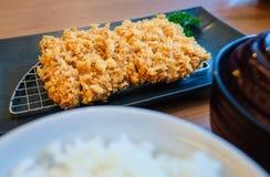 Tonkatsu set Japanese bento style Stock Photos