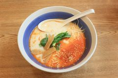 Free Tonkotsu Ramen In A Bowl On Table Of Japanese Foods. Royalty Free Stock Photography - 113528327