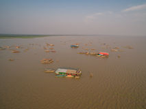 Tonle Aprosza jezioro Zdjęcie Royalty Free