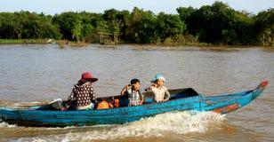 Tonle Aprosza jezioro. Kambodża. zdjęcie royalty free