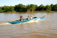Tonle Sap湖。 柬埔寨。 图库摄影
