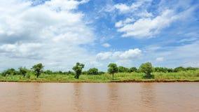 Tonle Sap湖银行在柬埔寨 免版税图库摄影