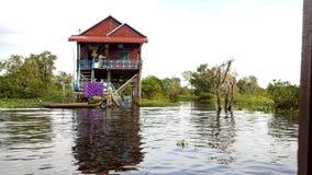 Tonle Sap湖,村庄 库存照片