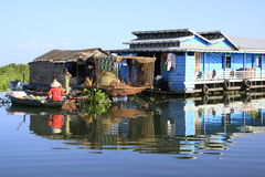 Tonle sap. Floating village in Cambodia Stock Photography