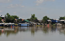 On the tonle sap in cambodia Stock Images