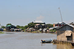 On the tonle sap in cambodia Royalty Free Stock Photography