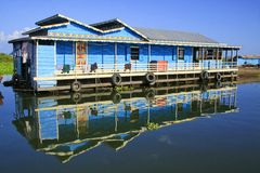 Tonle Sap, floating village Royalty Free Stock Photography
