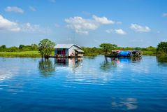 Tonle Sap lake, Cambodia. Royalty Free Stock Images