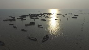 Tonle Sap lake (Cambodia). Tonle Sap lake aerial view (Siem Reap, Cambodia stock footage