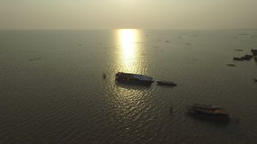 Tonle Sap lake (Cambodia) stock video