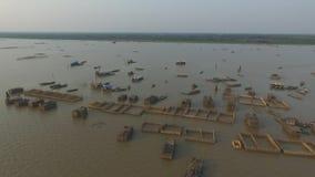 Tonle Sap lake (Cambodia) stock video footage