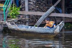 The Tonle sap lake Cambodia Royalty Free Stock Photo