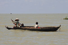 Tonle Sap Lake Citizen Stock Image