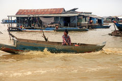 Tonle Sap lake royalty free stock images