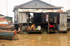 Tonle Sap lake Royalty Free Stock Photo