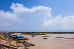 Tonle Sap Lake in Siem Reap Royalty Free Stock Images