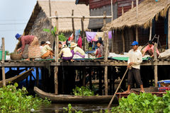 Tonle Sap Village Life Royalty Free Stock Images