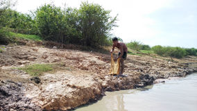 Tonle underminerar, Cambodja arkivfoto