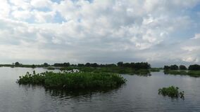 Tonle underminerar sjön Siem Reap Cambodja stock video