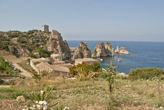 Tonnara di scopello Royalty Free Stock Photo