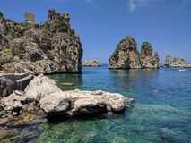 Tonnara di Scopello Royalty Free Stock Image