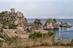 Tonnara di Scopello, Sicily, Italy Royalty Free Stock Photography
