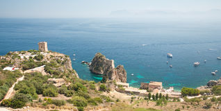 The Tonnara of Scopello, in Sicily Stock Photos