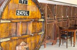 Tonneau antique de whiskey Photographie stock