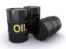 Tonneaux à huile Photographie stock libre de droits