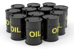 Tonneaux à huile. Photo stock