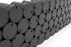 Tonneaux à huile. Images stock