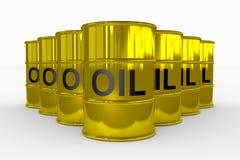 Tonneaux à huile. Image libre de droits