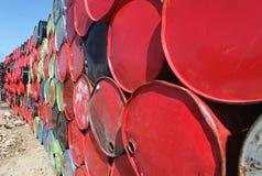 Tonneaux à huile photo libre de droits