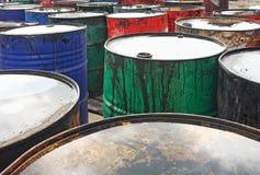 Tonneaux à huile Images libres de droits