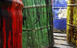 Tonneaux à huile Photographie stock