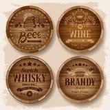 Tonneaux avec des boissons d'alcool Images stock