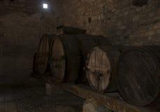 Tonneaux de vin Photos stock