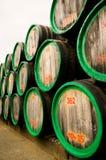 Tonneaux de vin Photo stock