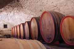 Tonneaux de vin Photographie stock libre de droits