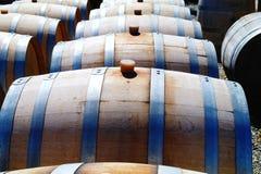 Tonneaux de vin Photo libre de droits
