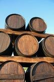 Tonneaux en bois Photographie stock libre de droits